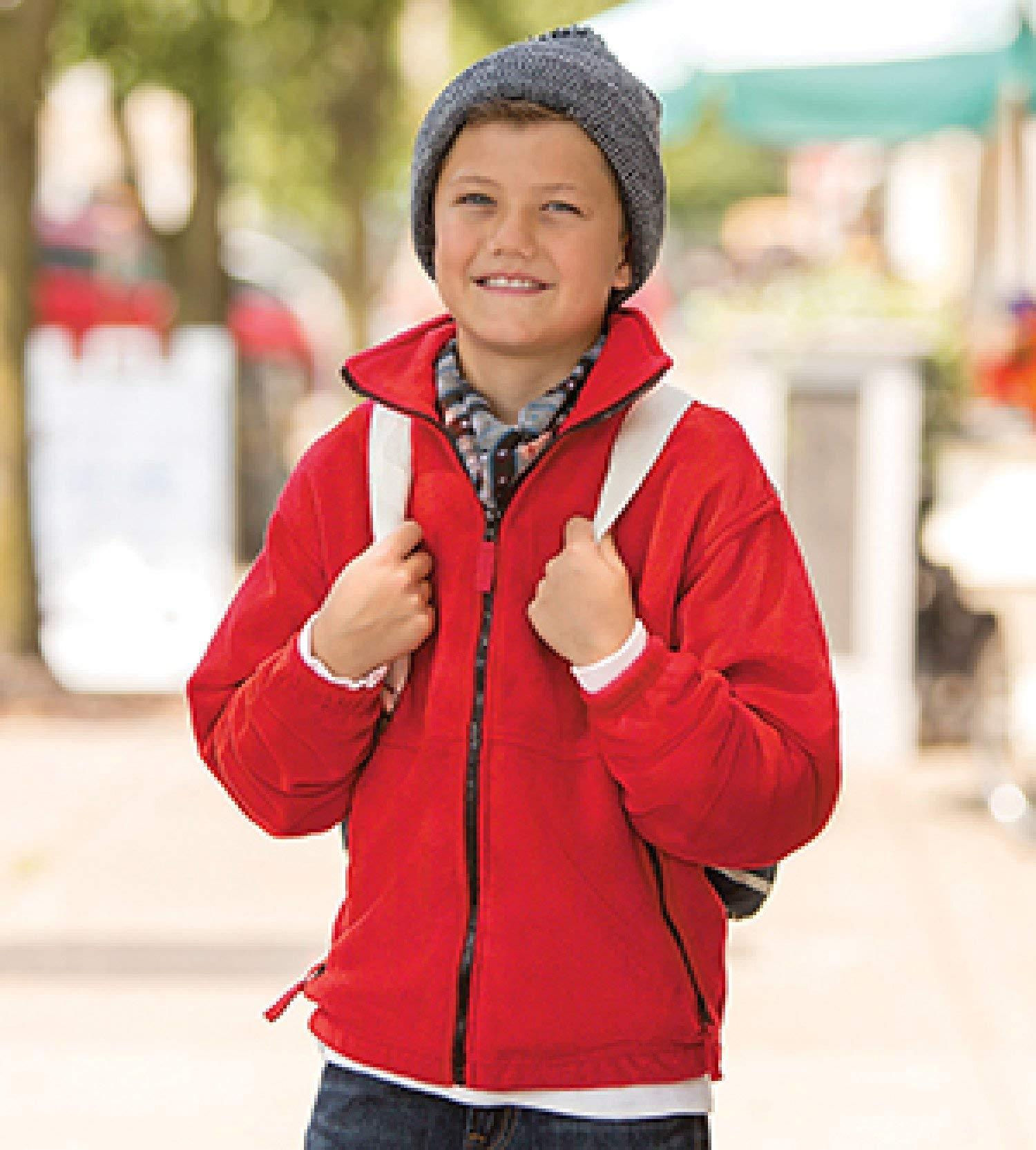 Sierra Pacific 4061 Boys' Fleece Full-Zip Jacket Black Small