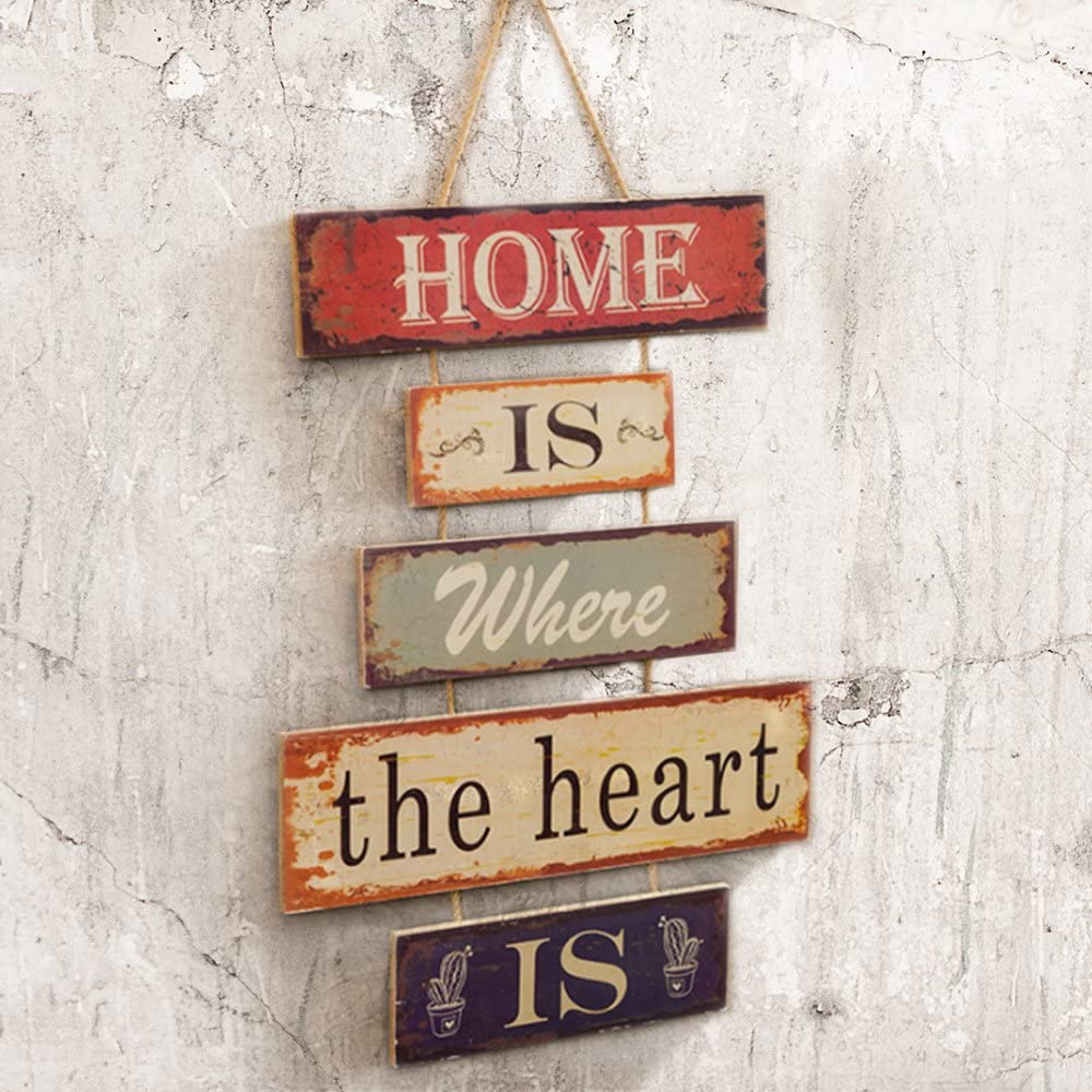 Home Is Where The Heart Is Plague Wood Sign Hanging Rustic Wall Art Home Decor 12x16 Inch Amazon Ca Home Kitchen,Best Wireless Charging Station For Apple Watch And Iphone