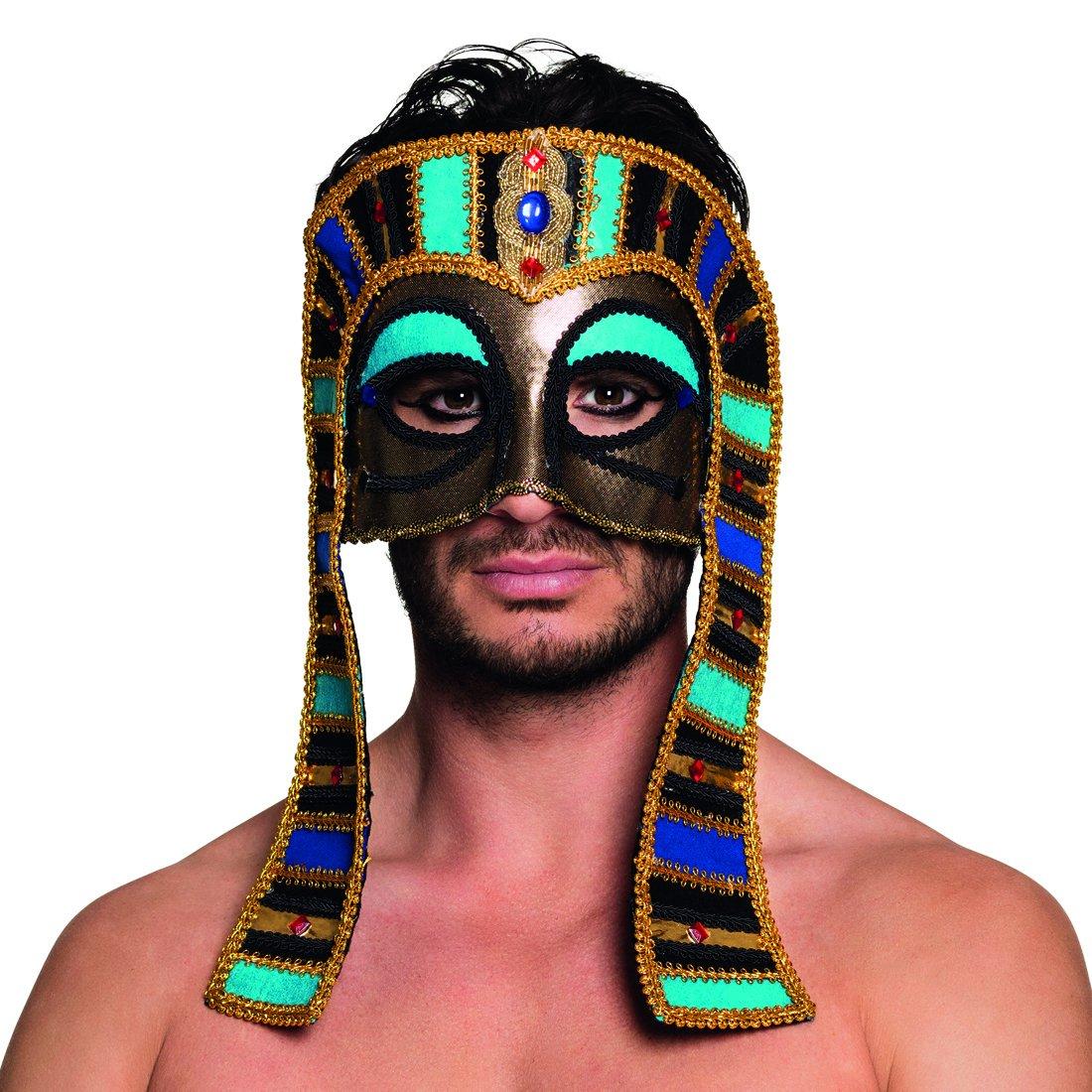 Amakando Antifaz Egipcio | Máscara de Ojos de Faraón | Mascarilla Antigua | Careta Tutankamón: Amazon.es: Juguetes y juegos