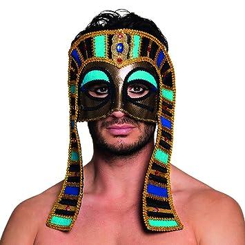 Amakando Antifaz Egipcio | Máscara de Ojos de Faraón | Mascarilla Antigua | Careta Tutankamón