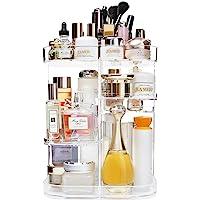 AMEITECH 360-Degree Makeup Organizer, DIY Adjustable Rotating Cosmetic Storage Carousel Spinning Holder Storage Rack…
