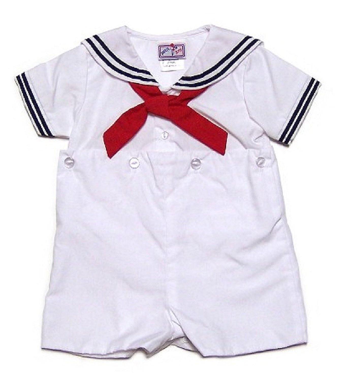 Petit Ami bebé niños 2 piezas blanco tradicional Sailor Pelele tamaños 3 - 24 meses: Amazon.es: Ropa y accesorios