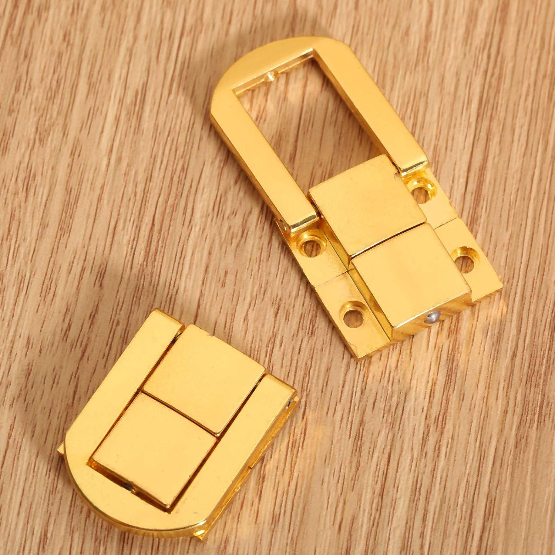 Koffer Antikmessing gold Antiker Messingverschluss mit Schrauben f/ür Schmuckk/ästen