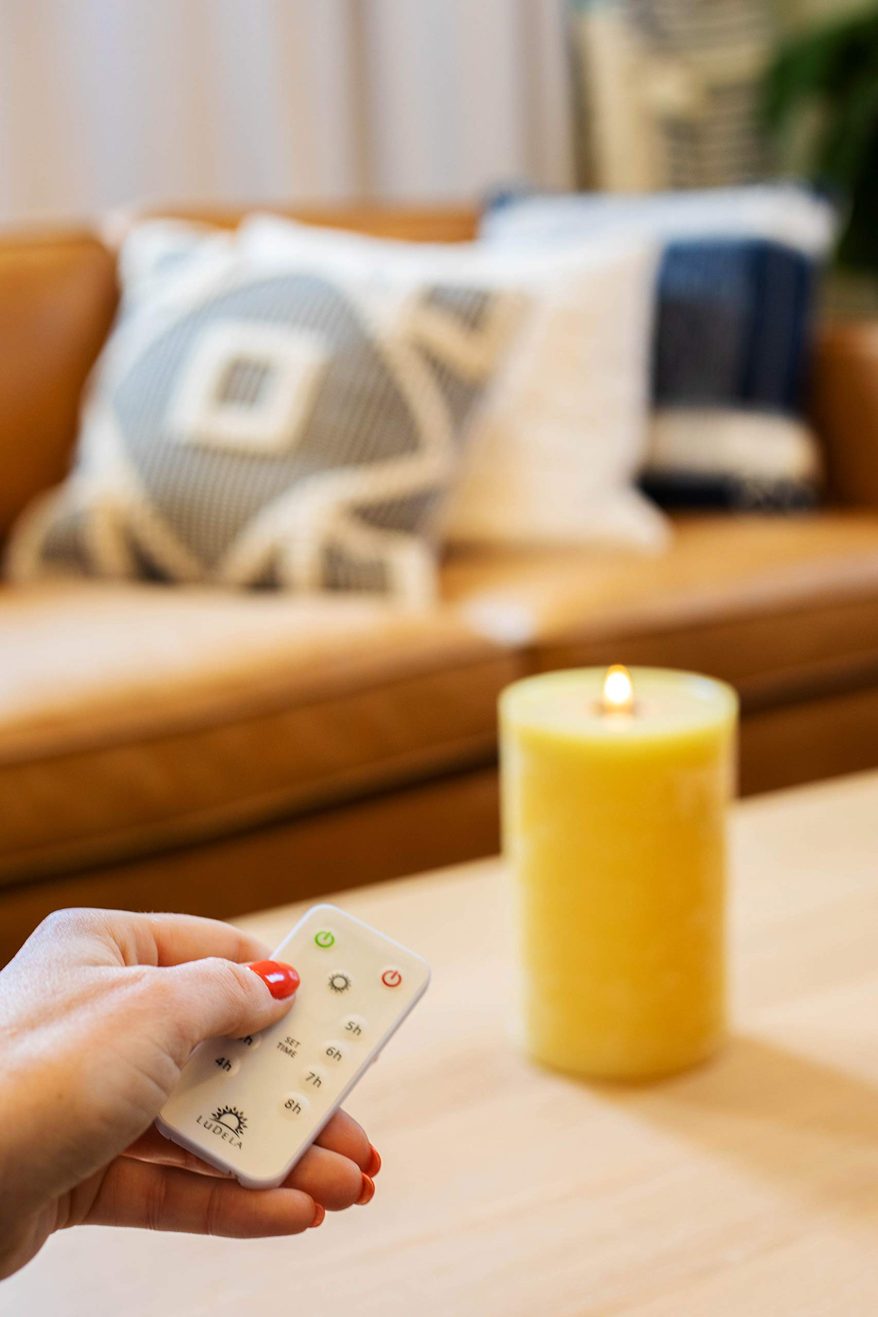 LuDela Remote Control Real-Flame Candle Starter Set | Smart Candle with Remote Control and Alexa Compatibility | Built-in Safety Technology | Always Bright, Natural Candlelight at a Touch of a Button by LuDela (Image #4)