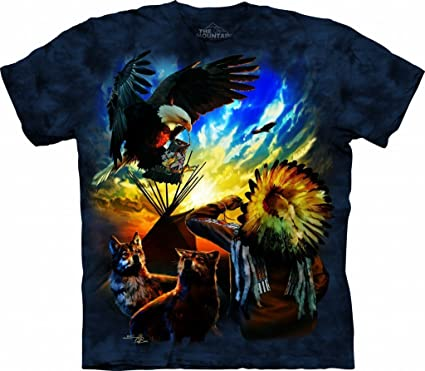Blessings of Peace Small Cotton Eagles T-Shirt Blue Adult Men s Women s  Short Sleeve T a0815a37c