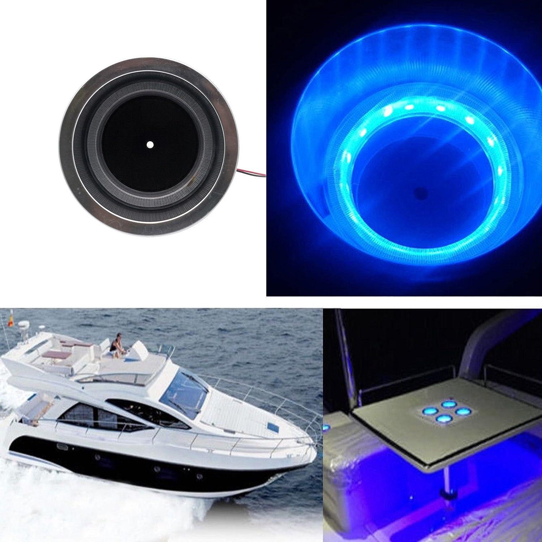 12V Blue LED Light Lamp Marine Boat Truck Car Camper ABS Maso Cup Drink Holder Led