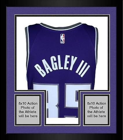 new product f52a0 c9fa2 Framed Marvin Bagley III Sacramento Kings Autographed Purple ...