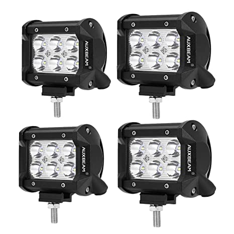 Amazon auxbeam 4 pcs 4 led light bar 18w led pods 6pcs 3w cree auxbeam 4 pcs 4quot led light bar 18w led pods 6pcs 3w cree leds spot aloadofball