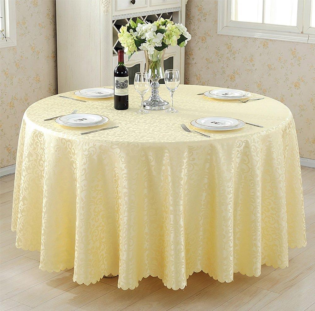 JIANFEI Round tablecloth dust-proof gorgeous, 5 colors, 9 sizes optional (Color : Beige, Size : 1.6m)