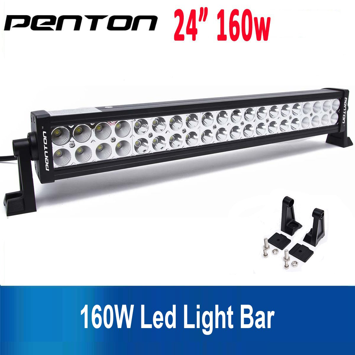 "Amazon.com: Northpole Light 160W 24"" + Wiring 22"" 120W Waterproof Spot  Flood Combo LED Work Bar Driving Fog Road, Truck, Car, ATV, SUV, Jeep:  Automotive"