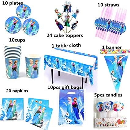 Amazon.com: Feliz cumpleaños niños Fro-zen Elsa Anna bebé ...