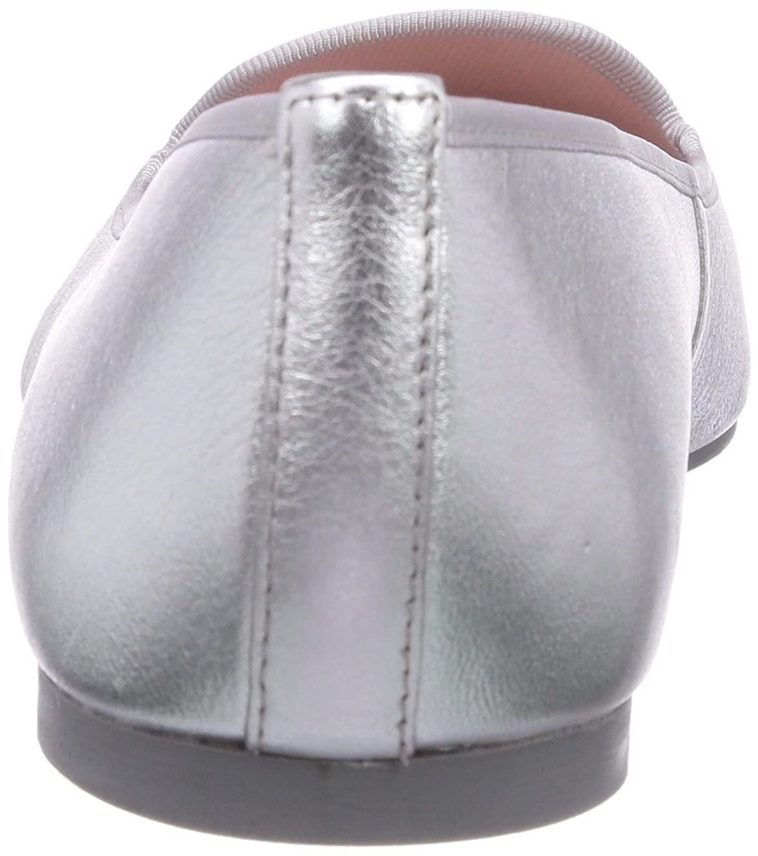 Pretty Ballerinas Pretty Loafers - Zapatillas de casa de cuero mujer, color Plata, talla 35: Amazon.es: Zapatos y complementos