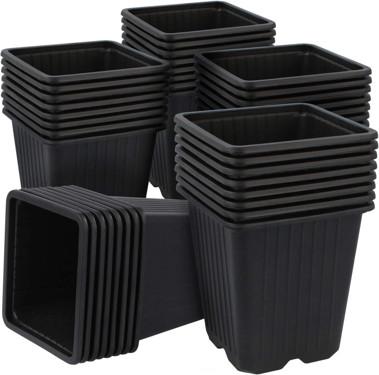 com-four® 40x Macetas de Cultivo para Plantas - Macetas para Cultivo - Maceta para fitomejoramiento (40 Piezas - Maceta de Semillas 9.5x10cm)