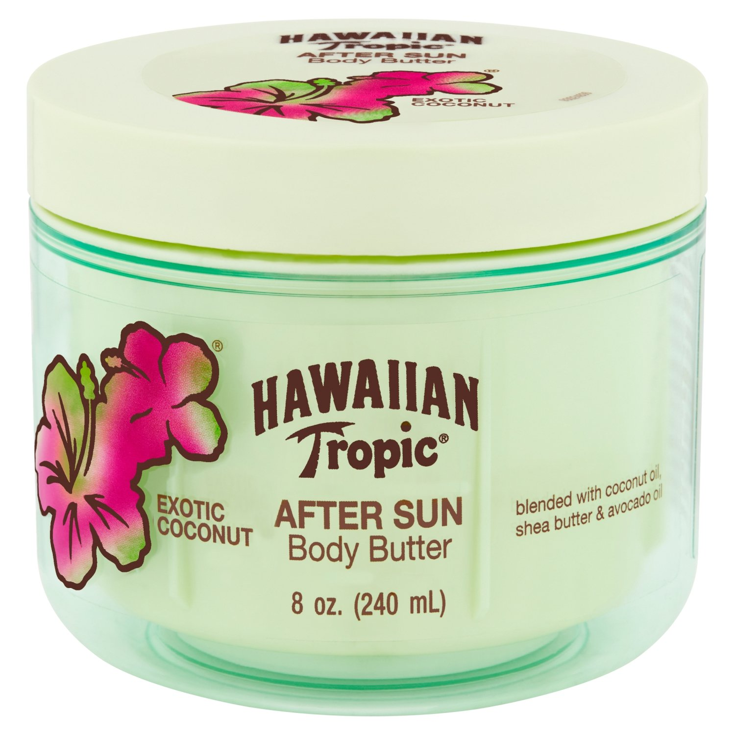 Hawaiian Tropic After Sun Hydrating Body Butter, Exotic Coconut, 8 ounce
