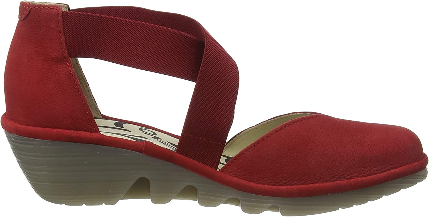 Fly London Paco147fly, Sandali A Punta Chiusa Donna Rosso Lipstick Red 005