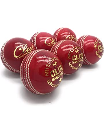 AnNafi Cricket Rubber Soft Balls for Practice A Grade Handstitched RED Senior Official