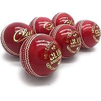 Lot de 6 balles de cricket officielles Mozi sports - Cousues à la main - Pour hommes - Classe A - Poids de chaque balle: 156 g.