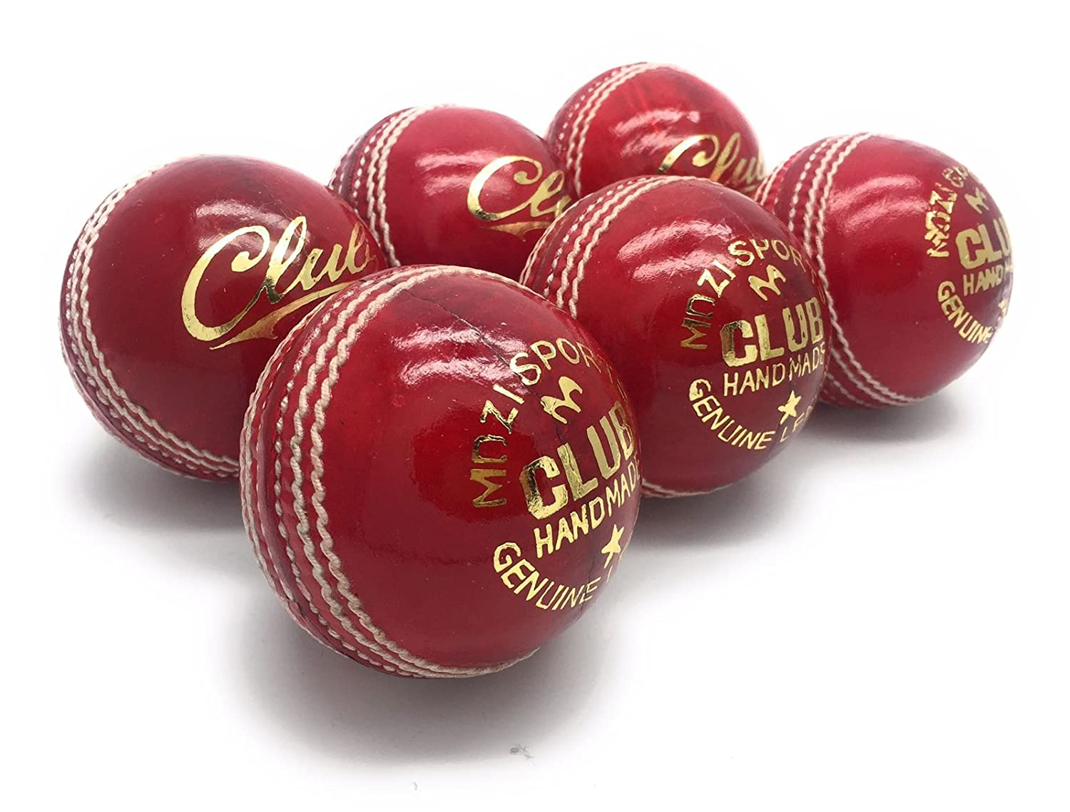 Mozi Sports Men Hand Stitched Club County Cricket Ball Grade A Senior Official Balls Pack Of 6 Weight 5.5oz