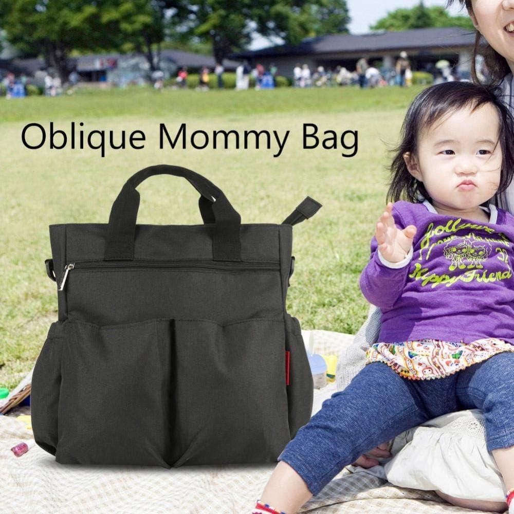 #1 Borsa per pannolini per bambini borsa per sospensione obliqua da viaggio impermeabile multifunzionale Borsa per pannolini per neonati di maternit/à capiente spaziosa