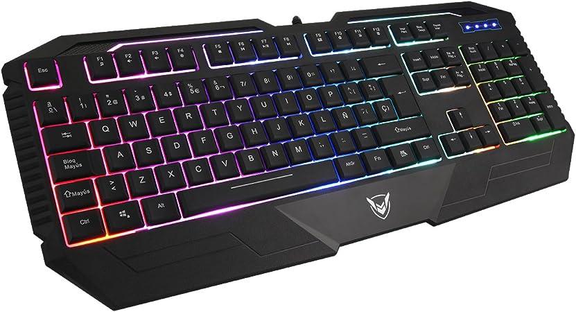 Pictek Tastatur Für Spiele Film Beleuchtete Tastatur Elektronik