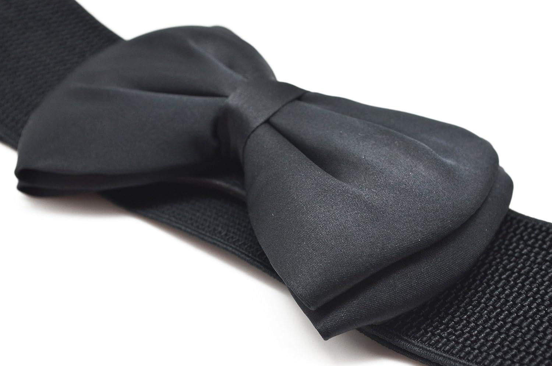 Meta-U Cintur/ón ancho el/ástico con flores para mujer