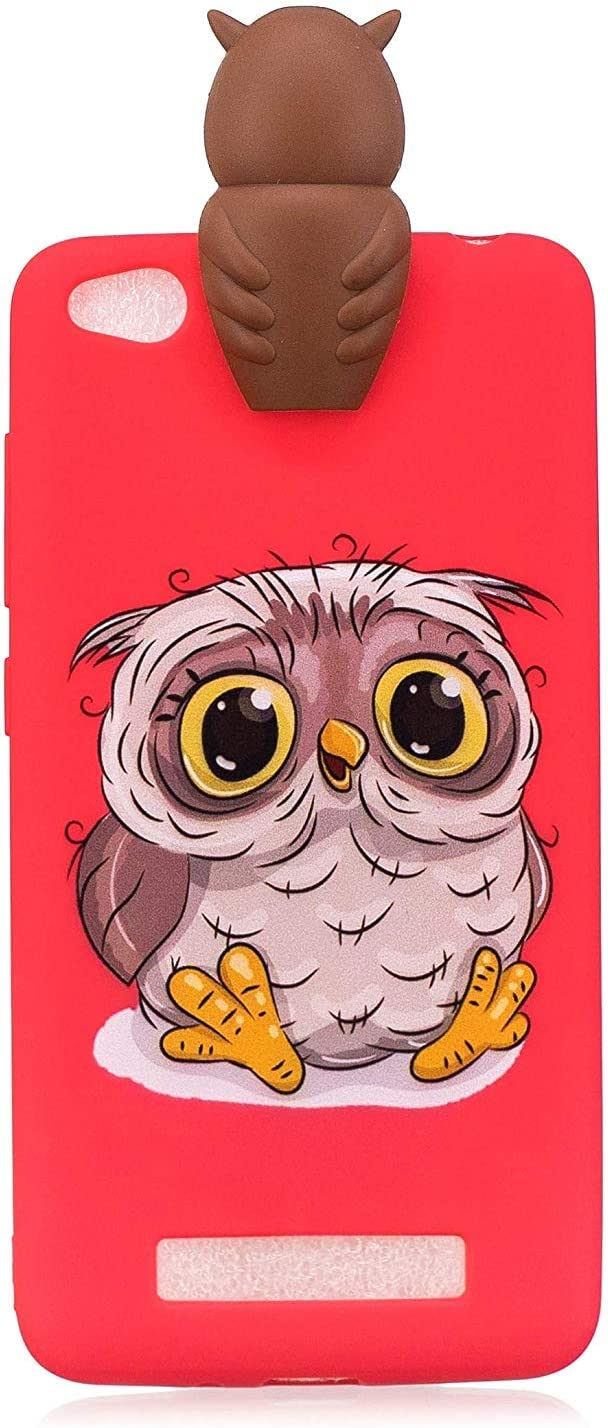 Huiran Niedlich 3D Karikatur Katze H/ülle f/ür Xiaomi Redmi 4A Bunt Sch/ön Tier Muster Weich Silikon Handyh/ülle,Ultra D/ünn Flexibel TPU Bumper Sto/ßfest Schutzh/ülle