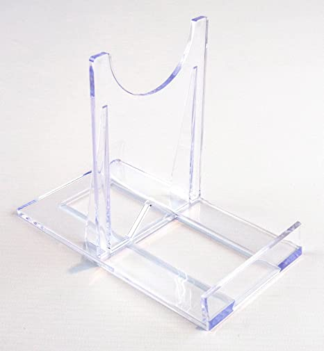 Display Stand  Large Sliding Clear Plastic  10.5cm 4u0026quot;  Plate Support  sc 1 st  Amazon UK & Display Stand : Large Sliding Clear Plastic : 10.5cm 4