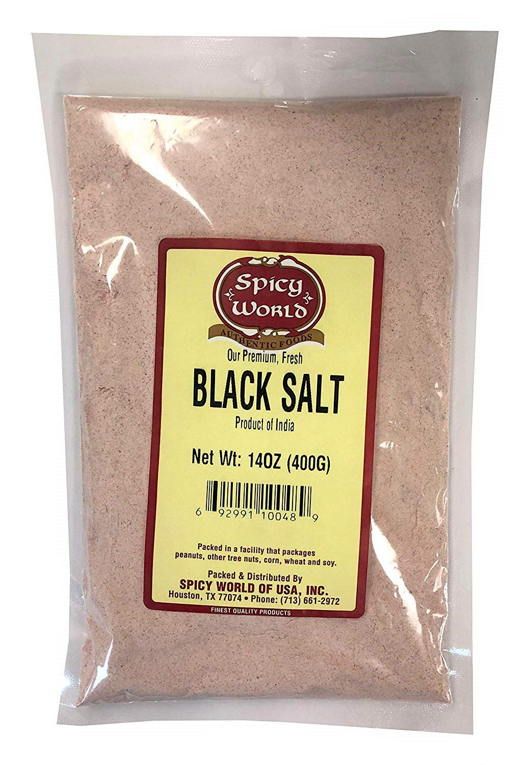 Spicy World Indian Black Salt 14 Ounce - Pure, Unrefined, and Natural (Kala Namak)