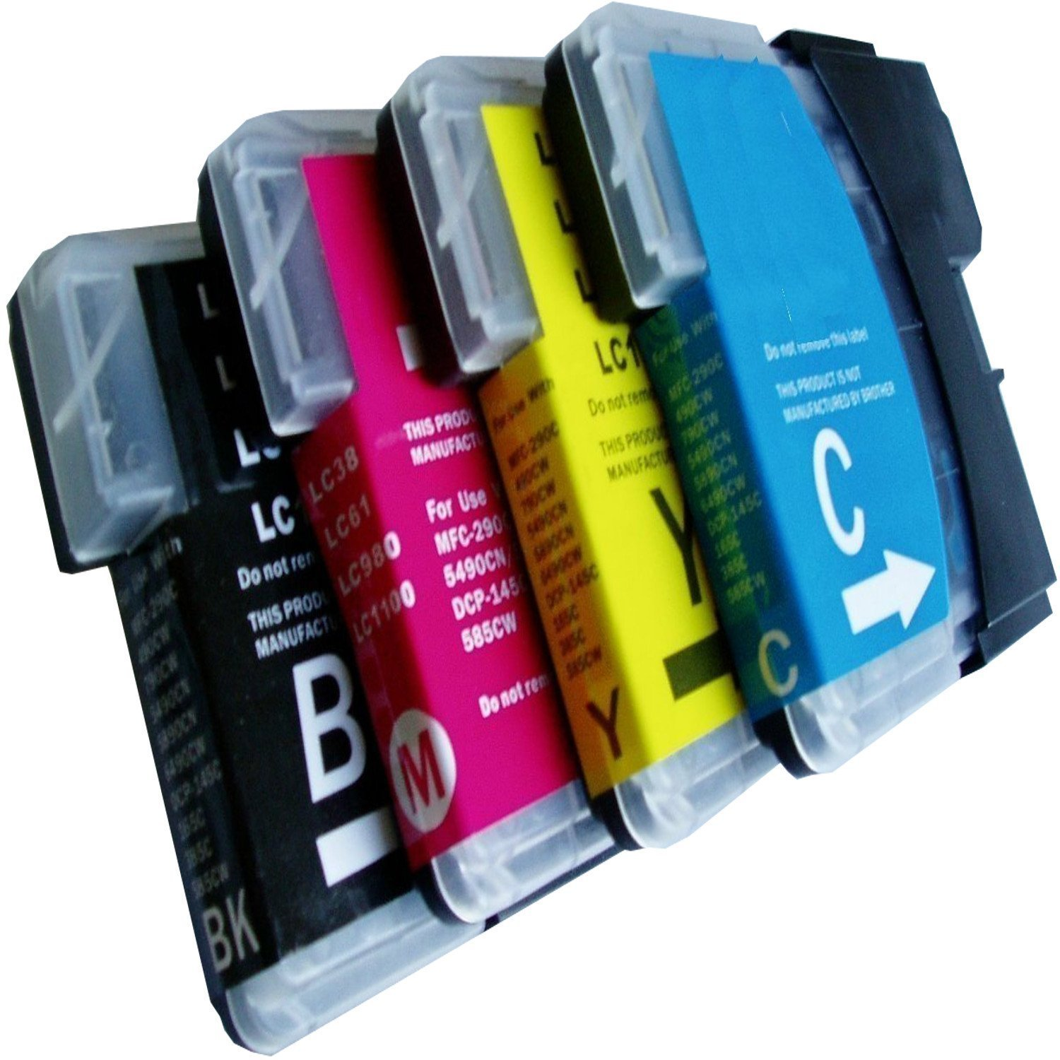 4 XL Printer Cartridges Comp with COMPATIBLES BROTHER LC985 ...