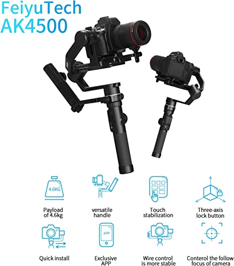 Feiyu AK4500 Gimbal for DSRL Camera: Amazon.es: Electrónica