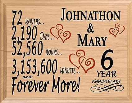 Amazon Broad Bay 6th Personalized 6 Year Anniversary Wedding