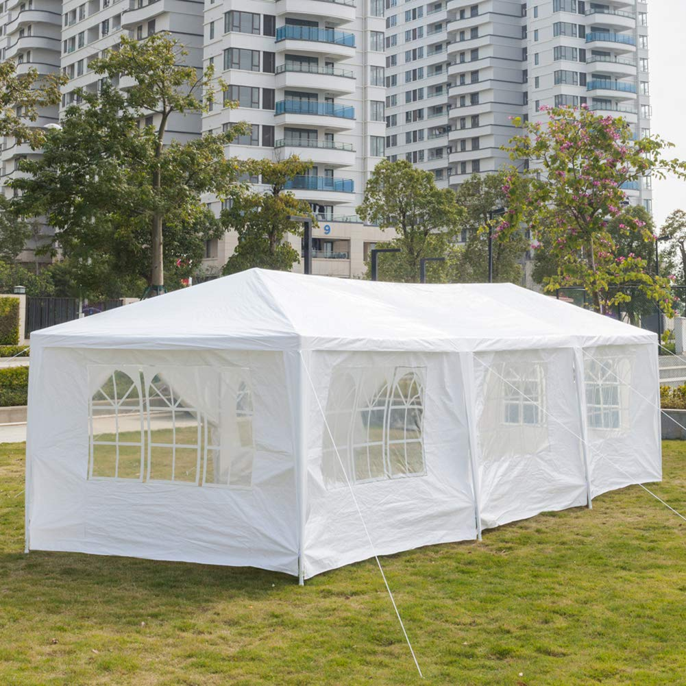 Ooscy Party Tent,Pop up Canopy Party Wedding Gazebo Tent Shelter with Removable Side Walls White by Ooscy (Image #6)