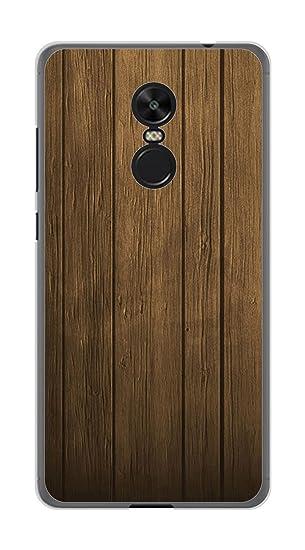Tumundosmartphone Funda Gel TPU para XIAOMI REDMI Note 4X / Note 4 Version Global diseño Madera Dibujos