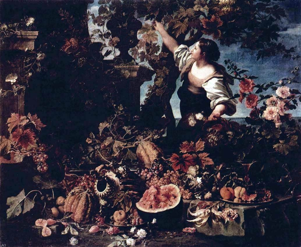 Art Oyster Christian Berentz Flowers and Fruit - 20.1'' x 25.1'' 100% Hand Painted Oil Painting Reproduction by Art Oyster