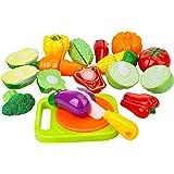 Peradix set 14pcs dînette cuisine couper Jouets Enfants Plastique legume