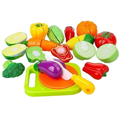 Peradix Verdura Giocattolo da Tagliere - Gioco di Ruolo per Bambini - Accessori  da Cucina - 7087491efca2