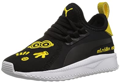 7314c8863aa0 PUMA Baby Tsugi Apex AC Kids Sneaker Black White-Minion Yellow