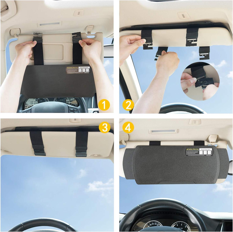 sombra de ventana Extensor para parasol de coche WANPOOL 1 pieza antideslumbrante para conductor o asiento delantero