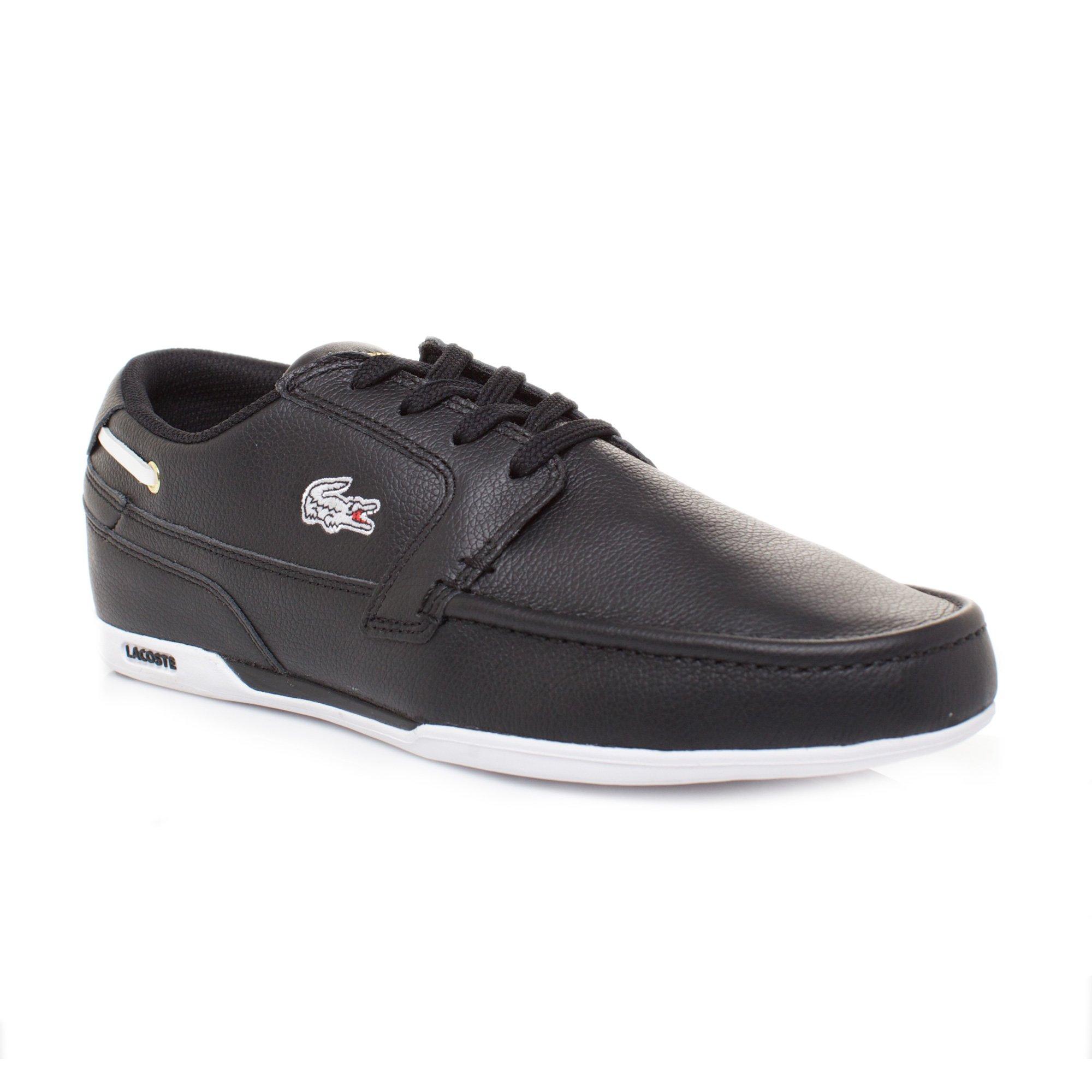 Lacoste Men's Dreyfus Ap Spm Lace-Up Sneaker,Black/Gold,7.5 M US