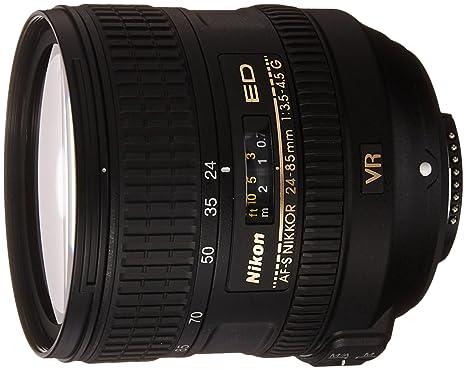 Nikon AF-S VR 24-85mm F3.5-4.5 G ED - Objetivo con Montura para Nikon (Distancia Focal 24-85mm, Apertura f/3.5, estabilizador de Imagen)