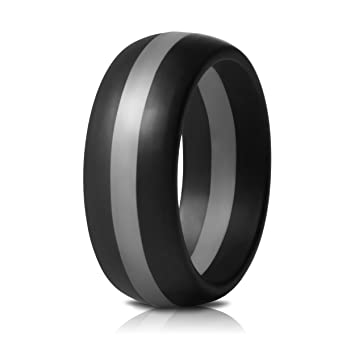 Amazoncom Mens Silicone Rings Wedding Bands 7 Pack Singles