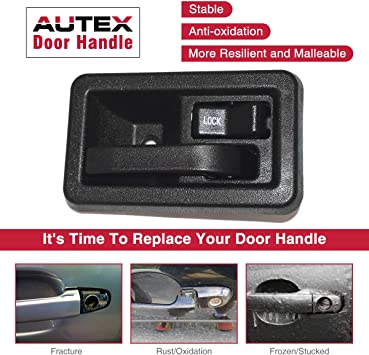 AUTEX Interior Front Right Door Handle Compatible with Jeep Wrangler 1991-2004 Replacement for Jeep TJ 97-04 Passenger Side 79541