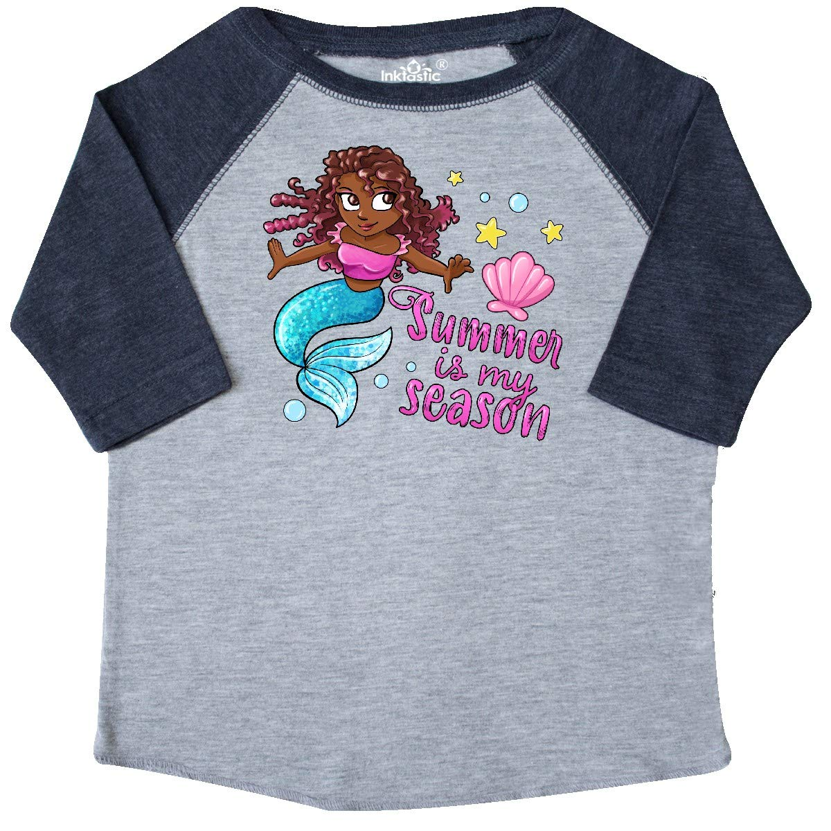 Mermaid with Blue Tail Toddler T-Shirt inktastic Summer is My Season
