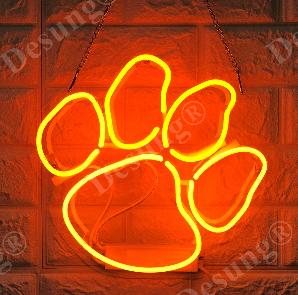 Desung Brand New 14'' Paw Gift Lamp Decorated Acrylic Panel Handmade Custom Design Neon Sign Light WD10