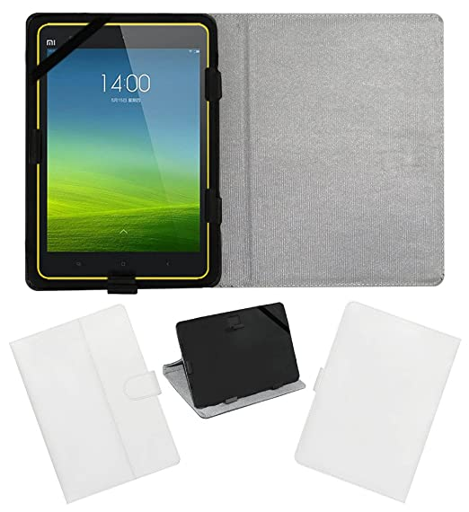 ACM Leather FLIP Flap Tablet Holder Carry CASE Stand Cover Compatible with XIAOMI MI PAD 8 White Tablet Accessories