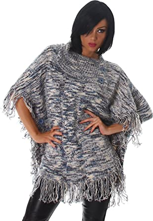 Damen Lange Cape Umhang Poncho Kurzmantel Versandhandel Nora XTOiPwkuZ