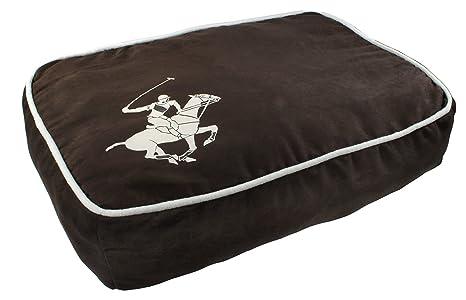 Beverly Hills Polo Club Super caballo Puff almohada cama para mascotas, 20 por 14 por