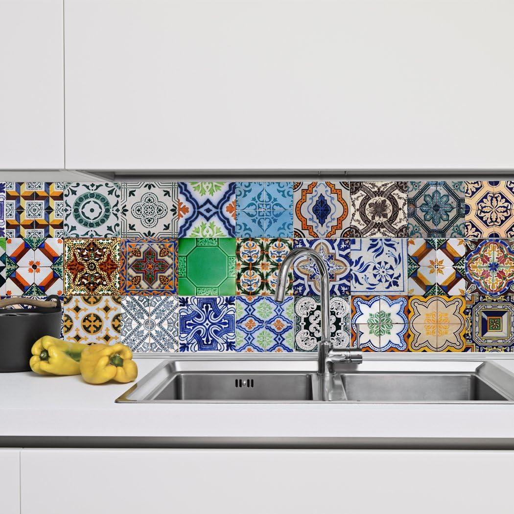 - Portuguese Tiles Stickers Aljustrel - Pack Of 36 Tiles - Tile
