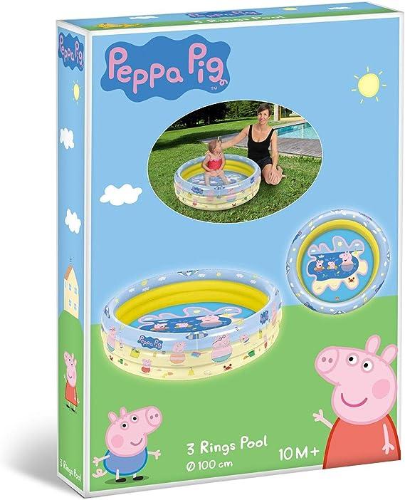 Mondo- Piscina 3 Anillas Peppa Pig, Multicolor, 16642: Amazon.es ...