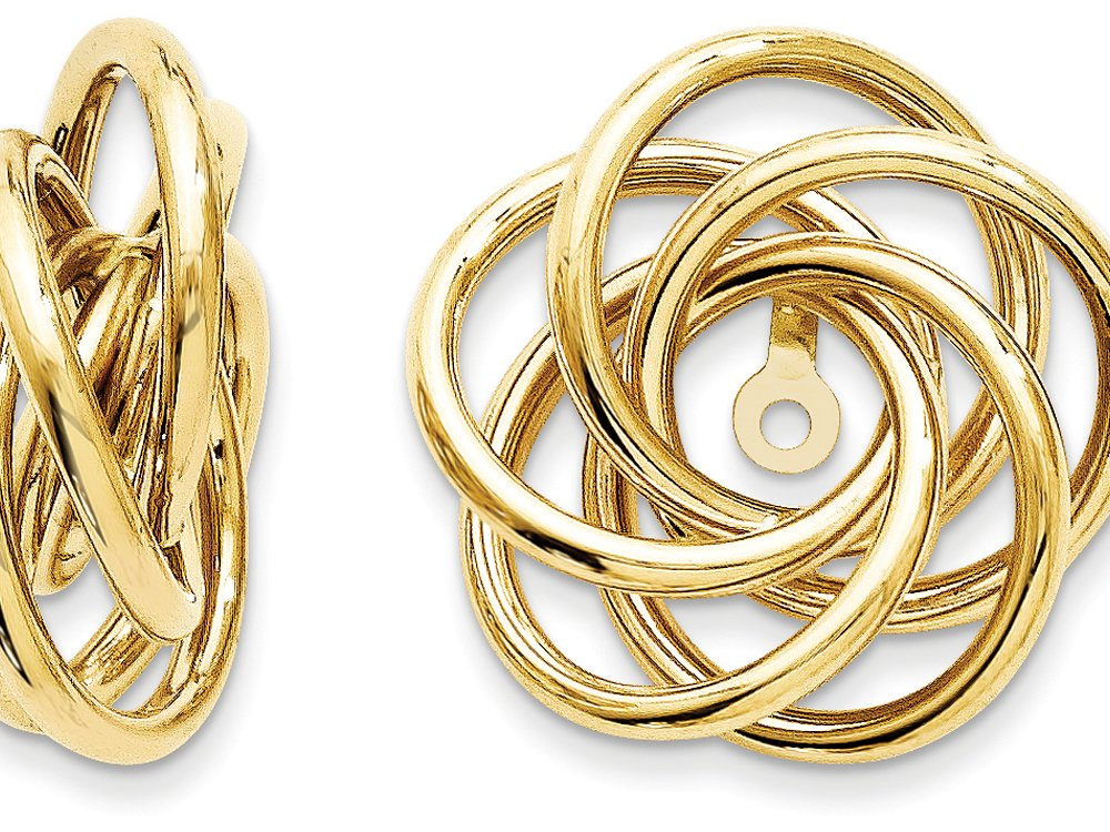 Finejewelers Polished Love Knot Earring Jackets 14 kt Yellow Gold